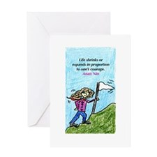 Life Shrinks NIN.jpg Greeting Card