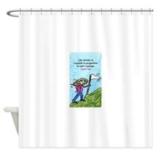 Life Shrinks NIN.jpg Shower Curtain