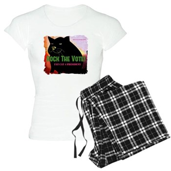 Rock The Vote! Fat Cat 4 Prez Women's Light PJs