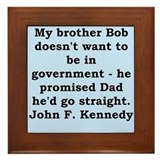john f kennedy quote Framed Tile