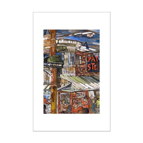 Philadelphia Pats CheeseSteak Mini Poster Print