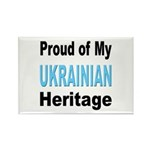 Proud Ukrainian Heritage Rectangle Magnet (10 pack