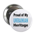 Proud Ukrainian Heritage Button