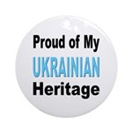 Proud Ukrainian Heritage Ornament (Round)