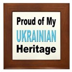 Proud Ukrainian Heritage Framed Tile