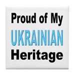 Proud Ukrainian Heritage Tile Coaster