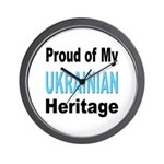 Proud Ukrainian Heritage Wall Clock