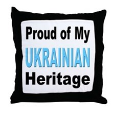 Proud Ukrainian Heritage Throw Pillow