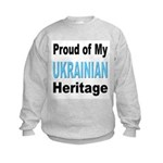 Proud Ukrainian Heritage Kids Sweatshirt