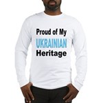 Proud Ukrainian Heritage (Front) Long Sleeve T-Shi