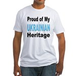Proud Ukrainian Heritage (Front) Fitted T-Shirt