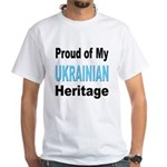 Proud Ukrainian Heritage White T-Shirt