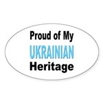 Proud Ukrainian Heritage Oval Sticker