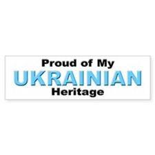 Proud Ukrainian Heritage Bumper Car Sticker
