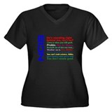 NCIS Quotes Women's Plus Size V-Neck Dark T-Shirt