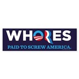 Whores 2012 Bumper Sticker