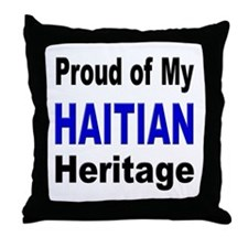 Proud Haitian Heritage Throw Pillow