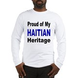 Proud Haitian Heritage Long Sleeve T-Shirt