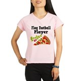 Flag Football Player Pizza Performance Dry T-Shirt
