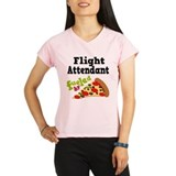 Flight Attendant Pizza Performance Dry T-Shirt