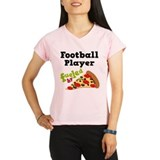 Football Player Pizza Performance Dry T-Shirt