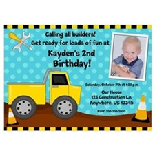 Construction Kids Birthday Invitation Invitations