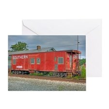 Kernersville Red Caboose Greeting Card