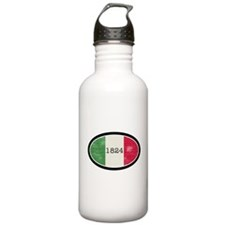 Alamo vintage flag oval Water Bottle