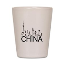 Shanghai Skyline Shot Glass