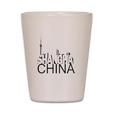Shanghai Skyline Shot Glass