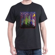 New York City Skyline rainbow T-Shirt