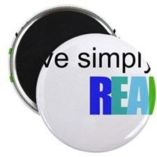 Live simply...READ Magnet