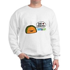 Eat healthy by yogome Sweatshirt