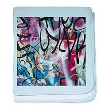 Graffiti Wall baby blanket