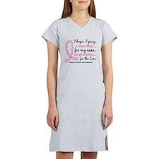 Hope Pray Wear Pink Breast Cancer Women's Nightshi