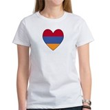 Flag of Aremenia Heart Tee