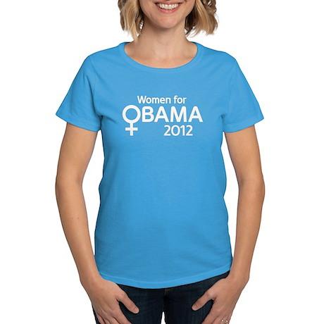 Women for Obama 2012 Women's Dark T-Shirt