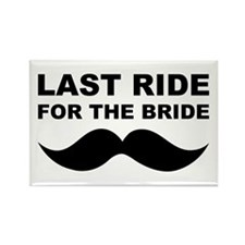 LAST RIDE FOR THE BRIDE Rectangle Magnet (10 pack)
