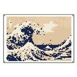 Pixel Tsunami Great Wave 8 Bit Art Banner