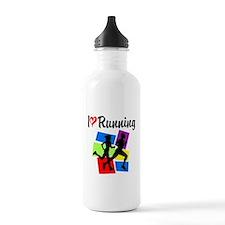 I LOVE RUNNING Water Bottle