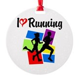 I LOVE RUNNING Ornament