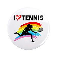 "I LOVE TENNIS 3.5"" Button (100 pack)"