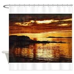 Uisead Point Sunset Shower Curtain