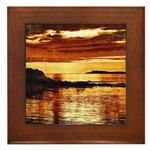 Framed Uisead Point Sunset Tile