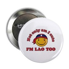 """Cute and Lao 2.25"""" Button"""