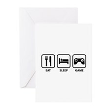 Eat Sleep Game Greeting Cards (Pk of 10)