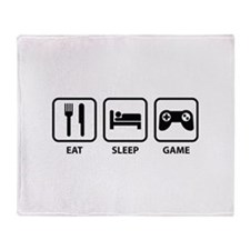 Eat Sleep Game Throw Blanket