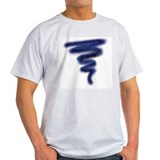 Blue Tornado Ash Grey T-Shirt