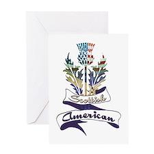 Scottish American Thistle Greeting Card