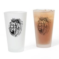 Vintage Lion Drinking Glass